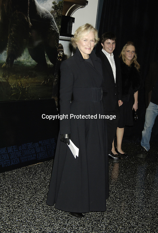 """Glenn Close..at The World Premier of Universal Pictures """" King Kong"""" ..on December 5, 2005 at The Loews E-Walk. ..Photo by Robin Platzer, Twin Images"""