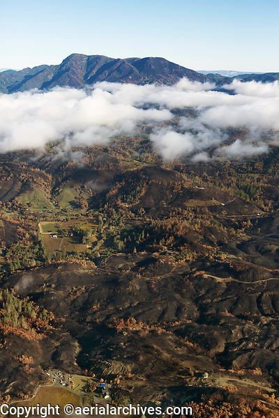 Tubbs Fire, Mount St. Helena, Sonoma County, California, northern California wildfires, 2017