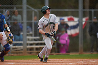 Dartmouth Big Green Oliver Campbell (27) bats during a game against the Indiana State Sycamores on February 21, 2020 at North Charlotte Regional Park in Port Charlotte, Florida.  Indiana State defeated Dartmouth 1-0.  (Mike Janes/Four Seam Images)