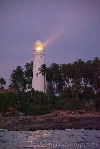 Barberyn (Beruwala) Light at purple twilight -near Bentota, Sri Lanka