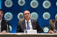 SÃO PAULO, SP - 30.09.2013: CERIMÔNIA DE POSSE E PRIMEIRA REUNIÃO DE TRABALHO DO CONSELHO SUPERIOR DE GESTÃO EM SAÚDE DO ESTADO DE SP - O Governador de São Paulo, Geraldo Alckmin durante a Cerimônia de posse e primeira reunião de trabalho do Conselho Superior de Gestão em Saúde do Estado de SP, que ocorre no Pálacio dos Bandeirantes, bairro do Morumbi região Sul de São Paulo nesta segunda-feira (30). (Foto: Marcelo Brammer/Brazil Photo Press)