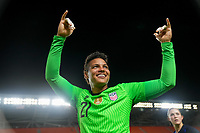 HOUSTON, TX - JUNE 13: Adrianna Franch #21 of the United States celebrates after a game between Jamaica and USWNT at BBVA Stadium on June 13, 2021 in Houston, Texas.