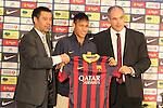 2013.06.03 Presentacio Neymar con jugador del FC Barcelona