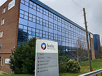 The Bucks New University in the town centre on March 19, 2020 in High Wycombe, United Kingdom during the COVID-19 pandemic causing people to panic buy items. Photo by Andy Rowland.