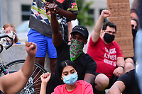 Washington, DC - June 15, 2020: Protesters block a section of Intertstae 395/695 in Washington, DC June 15, 2020 to call for police justice and reform in the wake of the police killing of George Floyd in Minnesota.  (Photo by Don Baxter/Media Images International)