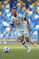Amir Rrahmani of SSC Napoli<br /> during the friendly football match between SSC Napoli and Pescara Calcio 1936 at stadio San Paolo in Napoli, Italy, September 11, 2020. <br /> Photo Cesare Purini / Insidefoto