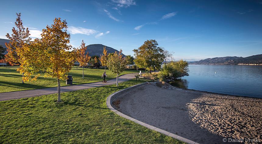 Fine Art Landscape, Photograph of the beach in Penticton along Okanagan Lake in British Columbia Canada.