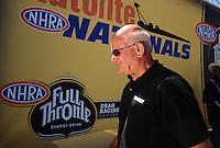 Jul. 18, 2010; Sonoma, CA, USA; NHRA funny car driver Gary Densham during the Fram Autolite Nationals at Infineon Raceway. Mandatory Credit: Mark J. Rebilas-