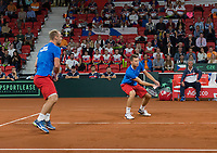 The Hague, The Netherlands, September 16, 2017,  Sportcampus , Davis Cup Netherlands - Chech Republic, Doubles : Pavlasek/Jebavy (CZE)<br /> Photo: Tennisimages/Henk Koster