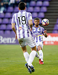 Real Valladolid's Balbi (f) and Juan Jordan during La Liga Second Division match. March 11,2017. (ALTERPHOTOS/Acero)