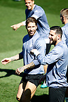 Real Madrid's Sergio Ramos (l) and Kiko Casilla during training session. May 1,2017.(ALTERPHOTOS/Acero)