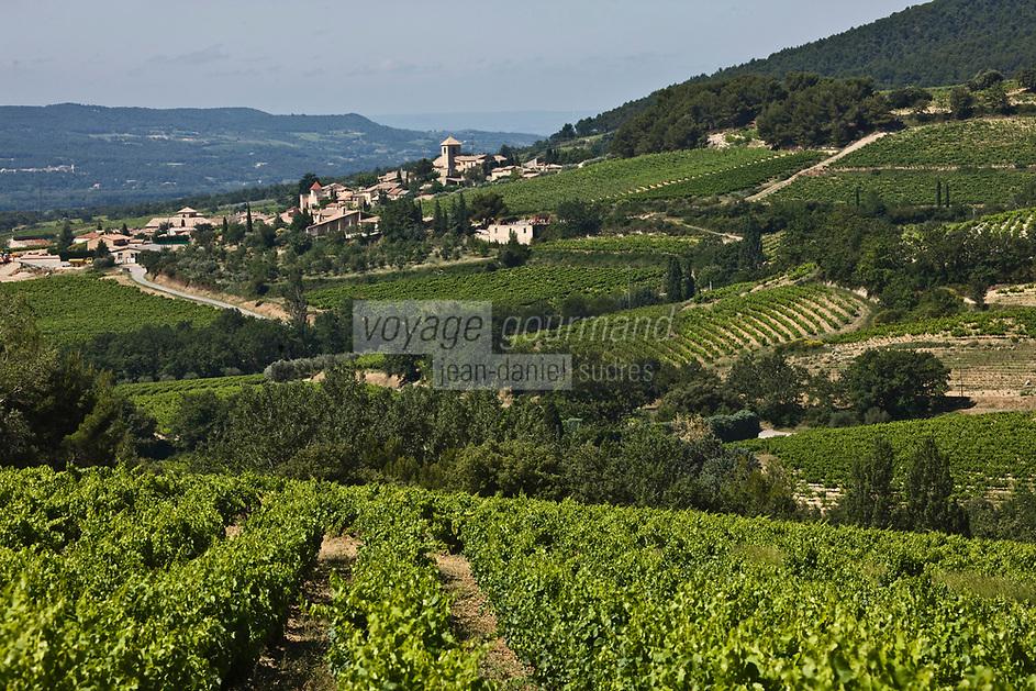 Europe/France/Rhône-Alpes/26/Drôme/VInsobres: le village et le vignoble AOC Côtes du Rhone