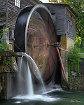 HDR image of the millwheel at The Old Mill in Pigeon Forge, TN.