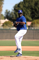 Yhency Brazoban - Los Angeles Dodgers 2009 spring training.Photo by:  Bill Mitchell/Four Seam Images