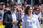 President of Madrid Isabel Diaz Ayuso during the visit of King Felipe VI and Queen Letizia of Spain to Arganda del Rey because of the floods that happened in August and September. September 27, 2019. (ALTERPHOTOS/ Francis Gonzalez)