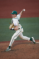 Charlotte 49ers relief pitcher Sam Grace (48) in action against the Tennessee Volunteers at Hayes Stadium on March 9, 2021 in Charlotte, North Carolina. The 49ers defeated the Volunteers 9-0. (Brian Westerholt/Four Seam Images)