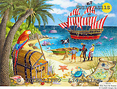 Ingrid, CHILDREN, KINDER, NIÑOS, paintings+++++,USISAS11S,#K#,pirates,island,treasure ,vintage