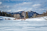 Penobscot Mountain over Long Pond in Acadia National Park, Maine, USA
