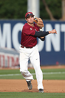 Ted Boeke (16) of the Loyola Marymount Lions throws before a game against the TCU Horned Frogs  at Page Stadium on March 16, 2015 in Los Angeles, California. TCU defeated Loyola, 6-2. (Larry Goren/Four Seam Images)