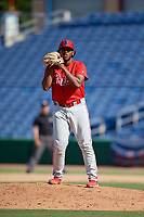 Philadelphia Phillies pitcher Engel Estevez (62) during an Instructional League game against the Toronto Blue Jays on September 23, 2019 at Spectrum Field in Clearwater, Florida.  (Mike Janes/Four Seam Images)