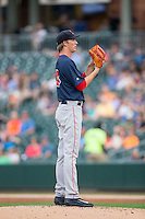 Pawtucket Red Sox starting pitcher Henry Owens (33) looks to his catcher for the sign against the Charlotte Knights at BB&T BallPark on July 6, 2016 in Charlotte, North Carolina.  The Knights defeated the Red Sox 8-6.  (Brian Westerholt/Four Seam Images)