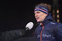 SCHAATSEN: AMSTERDAM: Olympisch Stadion, 09-03-2018, WK Allround, Coolste Baan van Nederland, interview Ireen Wüst (NED), ©foto Martin de Jong