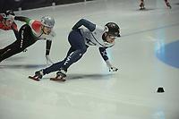 SPEEDSKATING: DORDRECHT: 05-03-2021, ISU World Short Track Speedskating Championships, QF 1500m Men, Vladislav Bykanov (ISR), Shaolin Sandor Liu (HUN), ©photo Martin de Jong