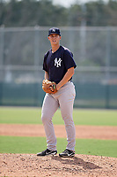 New York Yankees pitcher Glenn Otto (58) gets ready to deliver a pitch during an Instructional League game against the Pittsburgh Pirates on September 28, 2017 at Pirate City in Bradenton, Florida.  (Mike Janes/Four Seam Images)