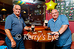 Enjoying their drinks at the reopening of indoor hospitality  at Castle bar on Monday, l to r: Martin Tigue and Martin O'Shea.