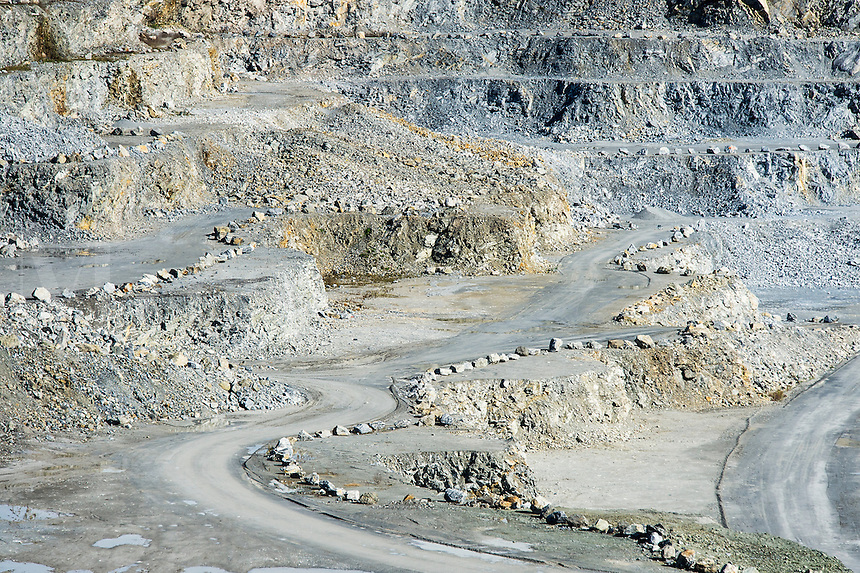 Open pit granite quarry, Maine, USA
