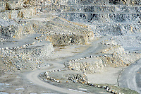 Open pit granite quarry, Maine, USA