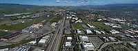 aerial photograph of interstate I-580 and the Hacienda Business Park, Pleasanton, Alameda County, California