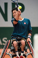 4th July 2021; Roland Garros, Paris France; French Open tennis championships day 6 wheelchair competition singles;  Shingo Kunieda ( Japan )