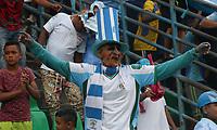 MONTERIA - COLOMBIA, 26-11-2017: Hinchas de Jaguares de Córdoba.Jaguares de Córdoba y El Independiente Santa Fe en partido de los cuartos de final ida de la Liga Aguila II - 2017, jugado en el estadio Jaraguay de la ciudad de Montería.. / Fans of Jaguares of Cordoba.Jaguares of Cordoba and Independiente Santa Fe during a match for the first leg between Jaguares of Cordoba  and Independiente Santa Fe , to the quarter of finals for the Liga Aguila II - 2017 at the Jaraguay  Stadium in Monteria city: Vizzorimage / Felipe Caicedo / Staff