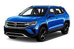 2022 Volkswagen Taos SEL 5 Door SUV Angular Front automotive stock photos of front three quarter view