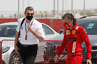 26th March 2021; Sakhir, Bahrain; F1 Grand Prix of Bahrain, Free Practice sessions;  STEINER Guenther (ita), Team Principal of Haas F1 team, with MEKIES Laurent (fra), Racing Director of the Scuderia Ferrari, portrait, during Formula 1 Gulf Air Bahrain Grand Prix