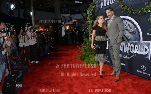 """Sofia Vergara & Joe Manganiello at the world premiere of """"Jurassic World"""" at the Dolby Theatre, Hollywood.<br /> June 10, 2015  Los Angeles, CA<br /> Picture: Paul Smith / Featureflash"""