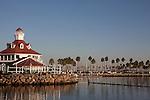 Parker's Lightouse Restaurant and bar at Shoreline Village on Rainbow Harbor in Downtown Long Beach, CA