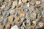 Switzerland, Canton Valais, near Bratsch: The High Bridge - cobblestone pavement (detail) | Schweiz, Kanton Wallis, bei Bratsch: Die Hohe Bruecke - Kopfsteinpflaster (Detail)