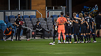 SAN JOSE, CA - NOVEMBER 04: San Jose Earthquakes players pose for the team photograph before a game between Los Angeles FC and San Jose Earthquakes at Earthquakes Stadium on November 04, 2020 in San Jose, California.