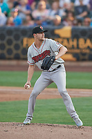Nashville Sounds starting pitcher James Naile (22) delivers a pitch to the plate against the Salt Lake Bees at Smith's Ballpark on July 28, 2018 in Salt Lake City, Utah. The Bees defeated the Sounds 11-6. (Stephen Smith/Four Seam Images)