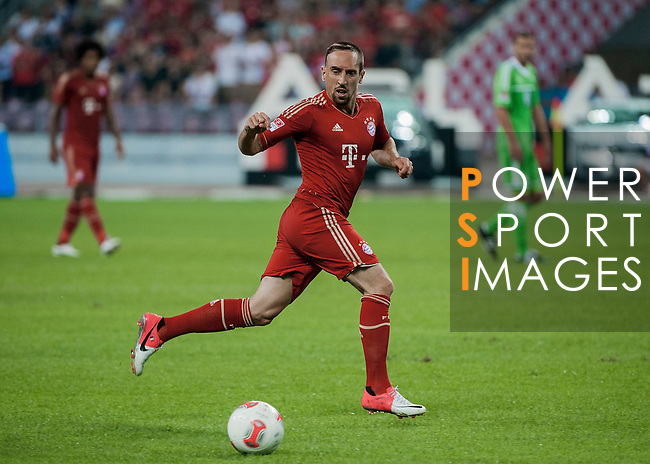 Franck Ribery of Bayern Munich in action during a friendly match against VfL Wolfsburg as part of the Audi Football Summit 2012 on July 26, 2012 at the Guangdong Olympic Sports Center in Guangzhou, China. Photo by Victor Fraile / The Power of Sport Images