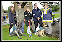 """08/08/2008  Copyright Pic: James Stewart.File Name : sct_jspa03_green_dog.MICHELE MCCALLUM, GREEN DOG WALKERS CO-ORDINATOR, JOHN MCCULLOCH WITH DUKE THE OLD ENGLISH MASTIFF, LOUISA FRENDO WITH PARIS THE CHIHUAHUA, GRAHAM STIRLING WITH VENICE THE GERMAN SHEPPARD, AND JENNIFER MILTON, LITTER STRATEGY TEAM,   AT THE LAUNCH OF FALKIRK COUNCIL'S """"GREEN DOG WALKERS"""" PROJECT.James Stewart Photo Agency 19 Carronlea Drive, Falkirk. FK2 8DN      Vat Reg No. 607 6932 25.Studio      : +44 (0)1324 611191 .Mobile      : +44 (0)7721 416997.E-mail  :  jim@jspa.co.uk.If you require further information then contact Jim Stewart on any of the numbers above........"""