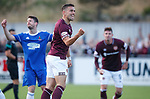 18.07.18 Cove Rangers v Hearts:  Olly Lee celebrates his opener for Hearts