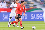 Jung Wooyoung of South Korea in action during the AFC Asian Cup UAE 2019 Quarter Finals match between Qatar (QAT) and South Korea (KOR) at Zayed Sports City Stadium  on 25 January 2019 in Abu Dhabi, United Arab Emirates. Photo by Marcio Rodrigo Machado / Power Sport Images