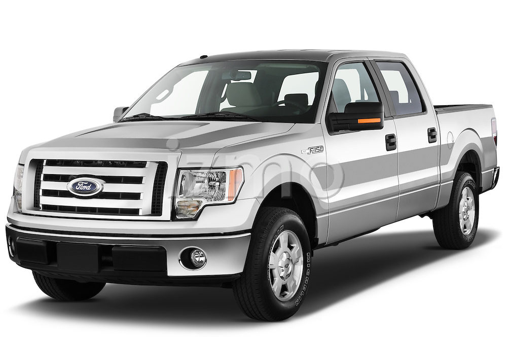 Front three quarter view of a 2012 Ford F150 .