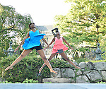 Dancewave performs in the garden of the Rockefeller Brothers' Kykuit Estate in Tarrytown, New York.
