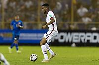 SAN SALVADOR, EL SALVADOR - SEPTEMBER 2: Jordan Pefok #19 of the United States moves with the ball during a game between El Salvador and USMNT at Estadio Cuscatlán on September 2, 2021 in San Salvador, El Salvador.