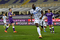 Football Soccer: Tim Cup Round of 16 Fiorentina - FC Internazionale Milano, Artemio Franchi  stadium, Florence, January 13, 2021. <br /> Inter's Romelu Lukaku (r) celebrates after scoring during the Italian Tim Cup football match between Fiorentina and Inter at Florence's Artemio Franchi stadium, on January 13, 2021.  <br /> UPDATE IMAGES PRESS/Isabella Bonotto