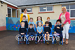 The nine new Juniors who started school in Scoil Bhréanainn, Portmagee on Tuesday 31st August pictured here with back l-r; Karen Stenson(Teacher) & Marian Kelly.